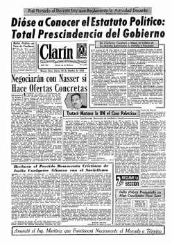 Tapa Clarin fecha 1956-10-18