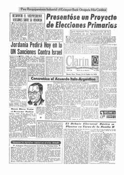 Tapa Clarin fecha 1956-10-19