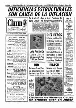 Tapa Clarin fecha 1966-09-25