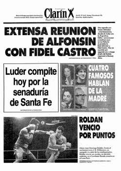 Tapa Clarin fecha 1986-10-19