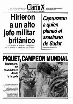 Tapa Clarin fecha 1981-10-18