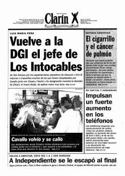 Tapa Clarin fecha 1996-10-19