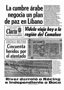 Tapa Clarin fecha 1976-10-18