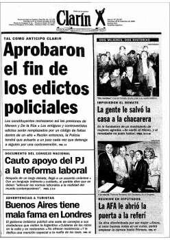 Tapa Clarin fecha 1996-09-25