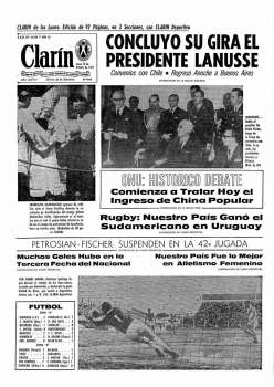 Tapa Clarin fecha 1971-10-18