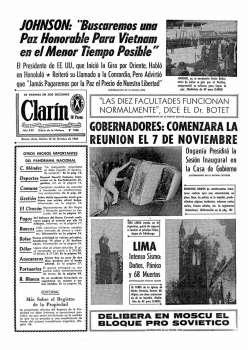 Tapa Clarin fecha 1966-10-18