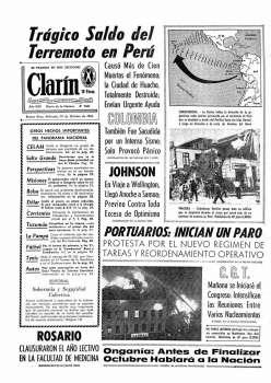 Tapa Clarin fecha 1966-10-19