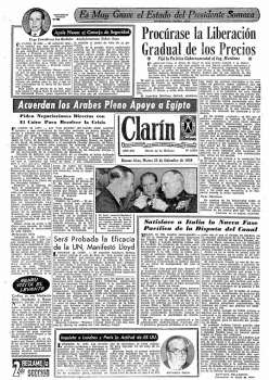 Tapa Clarin fecha 1956-09-25