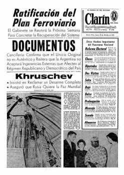Tapa Clarin fecha 1961-10-19