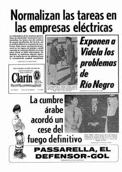 Tapa Clarin fecha 1976-10-19