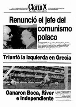 Tapa Clarin fecha 1981-10-19