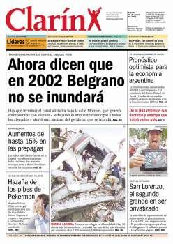 Tapa Clarin fecha 2001-01-27
