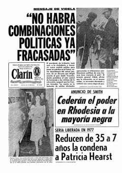 Tapa Clarin fecha 1976-09-25
