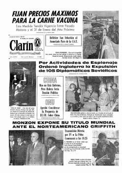Tapa Clarin fecha 1971-09-25