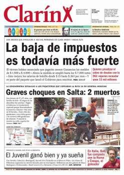 Tapa Clarin fecha 2001-06-18