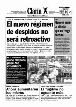 Tapa Clarin fecha 1996-10-18